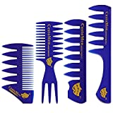 4 Pack Professional Styling Comb Set Wide Tooth Hair Comb Hairdressing Grooming and Styling Hair Combs for All Hair Types
