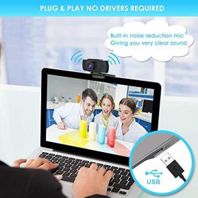 Webcam-with-Microphone-1080P-HD-Streaming-USB-Computer-Webcam-Plug-and-Play-30fps-for-PC-Video-ConferencingCallingGaming-LaptopDesktop-Mac-SkypeYouTubeZoomFacetime