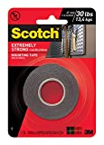 Scotch Extreme Mounting Tape, 1-inch X 60-inches, Black, 1-Roll (414P) - 414/DC