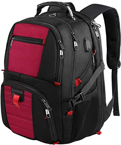 YOREPEK Laptop Backpacks,Extra Large Laptop Backpack with USB Charging Port,TSA Friendly Travel Computer Backpack for Men and Women, Water Resistant College School Bookbag Fits Most 17 Inch Laptop