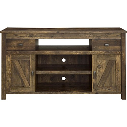 Entertainment Stand With Barn Doors