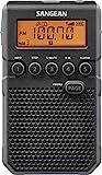 Sangean DT-800BK AM / FM / NOAA Weather Alert Rechargeable Pocket Radio (Black/Gray)