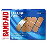Band-Aid Brand Flexible Fabric Adhesive Bandages for Wound Care and First Aid, All One Size, 100 ct (Packaging May Vary)