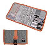 Electronic Organizer, BUBM Travel Cable Bag/USB Drive Shuttle Case/Electronics Accessory Organizer for Home-Grey
