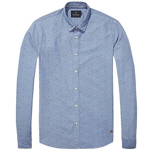 51SH%2B%2BaBzqL Slim fit Oxford weave cotton Scotch & Soda has a modern european fit