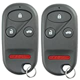 KeylessOption Keyless Entry Remote Control Car Key Fob Replacement for KOBUTAH2T (Pack of 2)