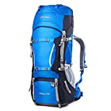 MOUNTAINTOP 70L+10LWater-Resistant Internal Frame Backpack Hiking Backpack Bag with Rain Cover for Trekking,Climbing,Camping,Hiking,Travel and Mountaineering-5805II
