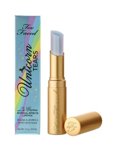 Light Blue Metallic Shimmer Lipstick by Too Faced