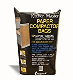 Kitchen Master Super Strong Compactor Bags Pre Cuffed (12 Pack)