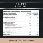 Marchio Amazon – Amfit Nutrition Barretta proteica a basso contenuto di zuccheri (19,6gr proteine – 1,4gr zucchero…