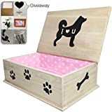 Creation Core Wooden Pet Coffin Casket Dog Funeral and Burial Casket Pet Burial Box for Dogs Cats and Other Animals, Pink 20x12.5x7.5