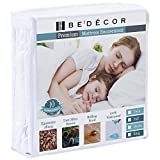 Bedecor Zippered Encasement Six Sides Waterproof, Dust Mite Proof, Bed Bug Proof Breathable Mattress Protector - Twin Size