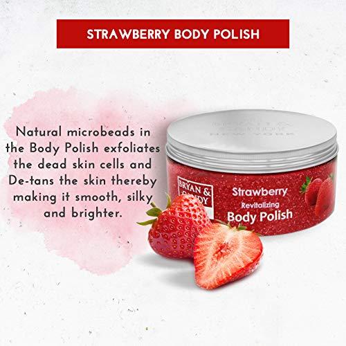 51SPBT19PrL Bryan & Candy New York Strawberry Bath Tub Kit for Complete Home Spa Experience (Shower Gel, Hand & Body Lotion, Sugar Scrub, Body Polish)