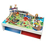 KidKraft Railway Express Train Set & Table Train Table & Set, Mutli