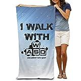 ShanxianP I Walk With WASD Soft Fast Drying Beach Towel Pool Towel 3050