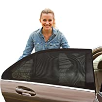 ShadeSox Universal Car Window Sun Shade - Protects Your Baby and older Kids from the Sun, Fits Almost Every Car! (2 Piece).