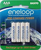 eneloop AAA 1800 cycle, Ni-MH Pre-Charged Rechargeable Batteries, 4 Pack (discontinued by manufacturer)