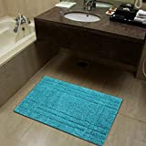 Pure Cotton Luxury Feel Bathroom Mat | Durable Shower Mat | Extra Absorbent Machine Washable Bath Rug Doormat Pack of 1-24' Round, Grey
