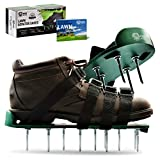 """Pride Roots Pre-Assembled Lawn Aerator Shoes - Effective Tool for Aerating Yard Soil   Premier 2.2"""" Spike Sandals w/ 4 Metal Buckle Straps   Includes Lawn Aeration eBook   1 Size Fits All"""