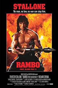 Rambo: First Blood Part II Movie Stallone with RPG Poster ...
