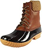 Nature Breeze Ladies Duck-02 Lace Up and Zipper Waterproof Insulated Boot (8, Tan)