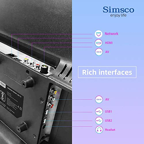"""Simsco 80 cm (32 Inches) HD Ready Smart Android LED TV S32""""ST (Gold And Black) (2020 Model) 8"""