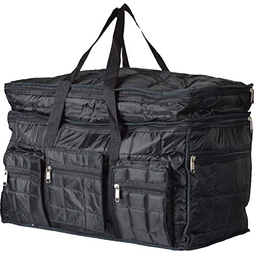 51Sef1jQySL - Home Store India Fabric 14 Inches Soft Travel Duffle (Home Store India_Black)
