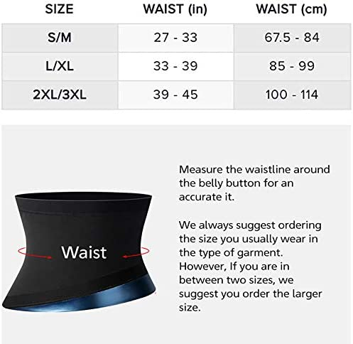 Waist Trainer for Women Weight Loss Everyday Wear,Waist Trimmer Sauna Sweat Workout Shaper Enhancer Body Slimmer Sauna Slimming Belt for Stomach Weight Loss Fitness Sweat Belt Abdominal Trainers S&M 9