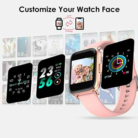 HolyHigh-Smart-Watches-for-Men-Women-Full-Touch-Customize-Watch-Face-with-Heart-Rate-BPBlood-Oxygen-Sleep-Monitor-Water-Resistant-Smart-Fitness-Tracker-Auto-Tracking-18-Sports-Mode-Get-Bluetooth-Calli