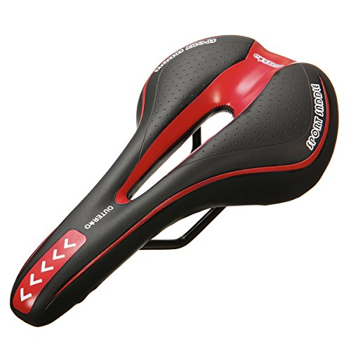 OUTERDO Bike Saddle Mountain Bike Seat Breathable Comfortable Bicycle Seat with Central Relief Zone and Ergonomics Design Fit for Road Bike and Mountain Bike