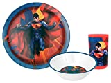 Warner Bros. 3-Piece Superman Man of Steel Dinner Set, Multicolor