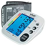 Vive Precision Blood Pressure Machine - Heart Rate Monitor - Automatic BPM Upper Arm Cuff - Sphygmomanometer for Hypertension and Accurate Pulse