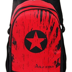 Red Black Casual Backpack