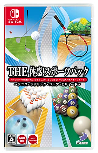 D3 Publisher THE Taikan ! Sports Pack: Tennis, Bowling, Golf, Billiard NINTENDO SWITCH REGION FREE JAPANESE VERSION [video game]