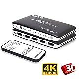Zettaguard 4K x 2K 4 Port 4 x 1 HDMI Switch with PIP and IR Wireless Remote Control, HDMI Switcher Hub Port Switches (ZW410)