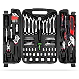 MVPOWER 95 Piece Home Mechanics Repair Tool Kit, General Household Tool Set with Durable and Long Lasting Tools Mixed Tool Set with Plastic Toolbox Storage Case Perfect for DIY, Home Maintenance