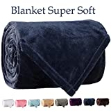 LBRO2M Fleece Bed Blanket Super Soft Warm Fuzzy Velvet Plush Throw Lightweight Cozy Couch Blankets King(104-Inch-by-90-Inch) Royal Blue