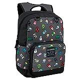 JINX Minecraft Bobble Mobs Kids School Backpack, Gray, 17'