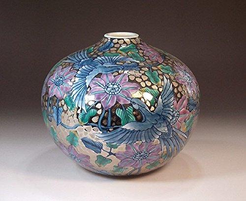 Arita - Imari pottery vase Platinum phoenix | gifts | Gifts | souvenir | gift | potter Fujii NishikiAya