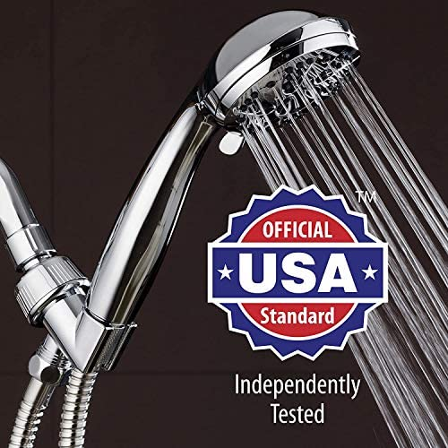 """AquaDance High Pressure 6-Setting 3.5"""" Chrome Face Handheld Shower with Hose for the Ultimate Shower Experience! Officially Independently Tested to Meet Strict US Quality & Performance Standards 18"""