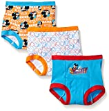 Disney Baby Boys' Toddler Mickey Mouse 3pk Training Pant, ((Colors may vary) Assorted, 3T