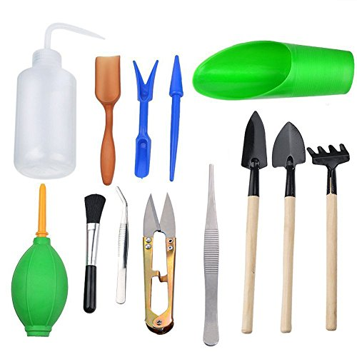 13 pieces mini garden hand tools transplanting tools for Gardening tools for sale