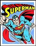 Desperate Enterprises Superman Retro Panels Tin Sign, 13x16