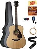 Yamaha FG800 Acoustic Guitar - Natural Bundle with Gig Bag, Tuner, Strings, Strap, Picks, Austin Bazaar Instructional DVD, and Polishing Cloth