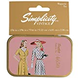 Simplicity Vintage 1940\s Fashion Magnetic Sewing Storage Tin Case, 3.75\\ W x 2.375\\ L x .8\\ H