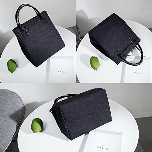 6e66eae2ba3c Moosoo Reusable Thermal Foldable Lunch Bag Lunch Tote Insulated ...
