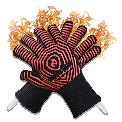 AZOKER BBQ Gloves - USA Made - 932℉ Extreme Heat Resistant EN407 Certified - Silicone...