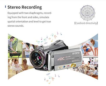 4K-Camcorder-Video-Camera-31-IPS-Touch-ScreenInfrared-Night-Vision-with-Stereo-MicrophoneWide-Angle-Lens2-Batteries-Handle64GB-SD-Card-Carrying-case
