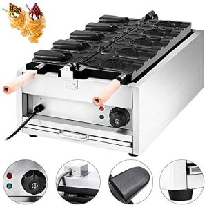 YWAWJ Opening Mouth Commercial Open Squid Biscuit Machine Fish Cake Machine Ice Cream Waffle Maker Machine Stainless Steel Electric Fish Waffle Maker 51StJ5DDO7L