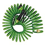 Orbit 27862 25-Foot Coil Hose with Nozzle, Green